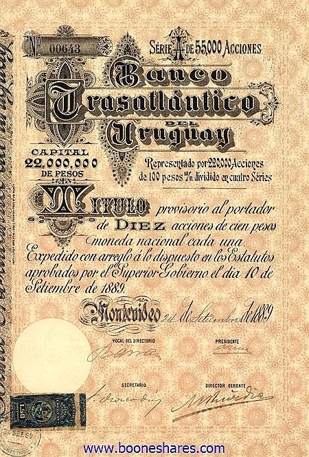 BANCO TRASATLANTICO DEL URUGUAY