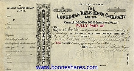 LONSDALE VALE IRON CO. LTD
