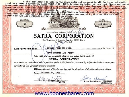 SATRA CORPORATION