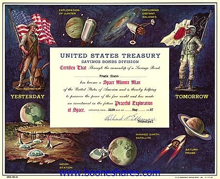 UNITED STATES TREASURY - PEACEFUL EXPLORATION OF SPACE