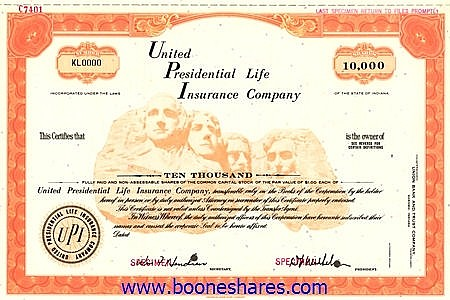 UNITED PRESIDENTIAL LIFE INSURANCE CO.