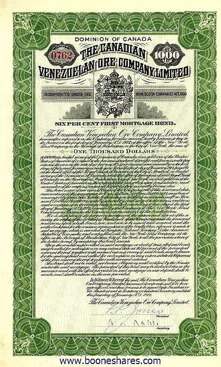 CANADIAN VENEZUELAN ORE CO. LTD