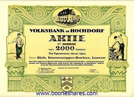 VOLKSBANK IN HOCHDORF