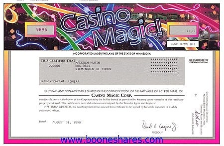 CASINO MAGIC CORP.