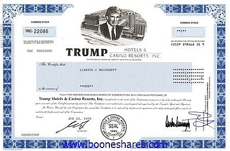 TRUMP HOTELS & CASINO REPORTS