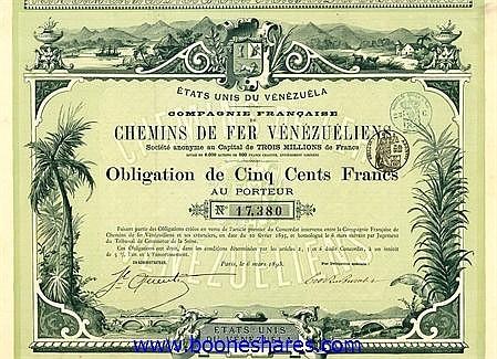 C.D.F. VENEZUELIENS S.A. - DE MERIDA AU LAC DE MARACAIBO