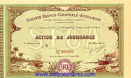 FRANCO-COLONIALE ANTILLAISE S.A.