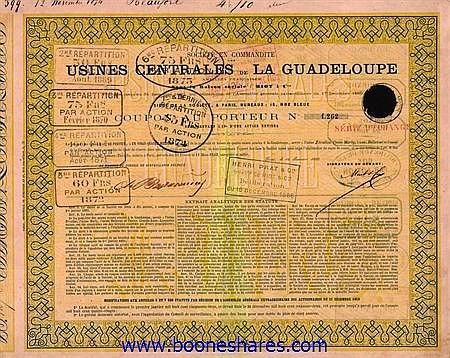 USINES CENTRALES DE LA GUADELOUPE, SOC. EN COMMANDITE DES
