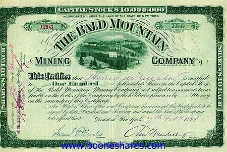 BALD MOUNTAIN MINING CO.