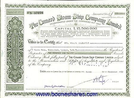 CUNARD STEAM-SHIP CO. LTD