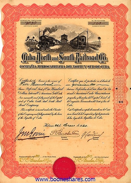 CUBA NORTH & SOUTH RAILROAD CO.