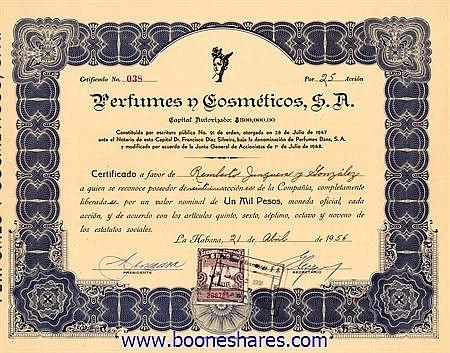 PERFUMES Y COSMETICOS, S.A.