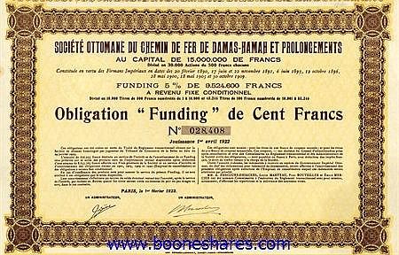 C.D.F. DE DAMAS-HAMAH ET PROLONGEMENTS, SOC. OTTOMANE DU