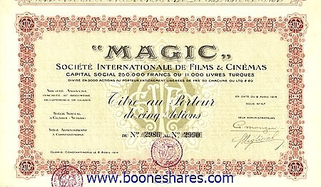 MAGIC, SOC. INTERNATIONALE DE FILMS & CINEMAS