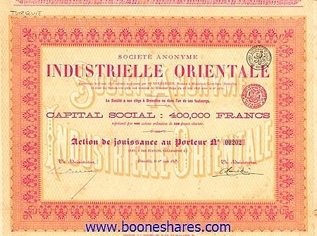 INDUSTRIELLE ORIENTALE, S.A.