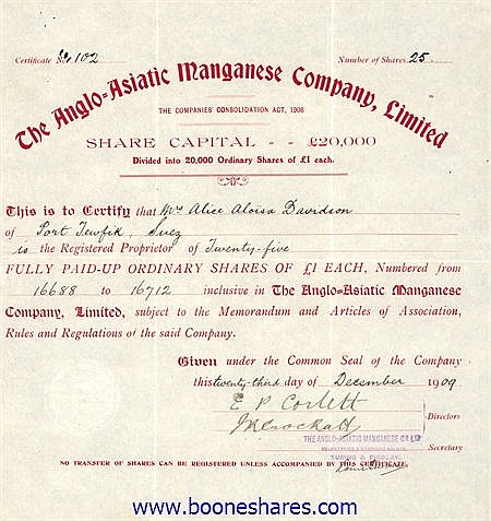 ANGLO-ASIATIC MANGANESE CO. LTD