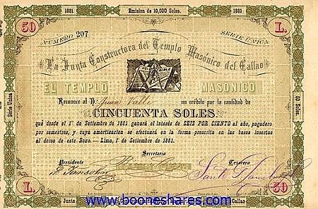 LA JUNTA CONSTRUCTORA DEL TEMPLO MASONICO DEL CALLAO