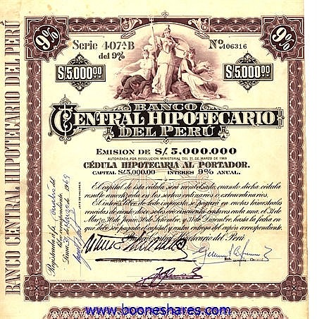 BANCO CENTRAL HIPOTECARIO DEL PERU