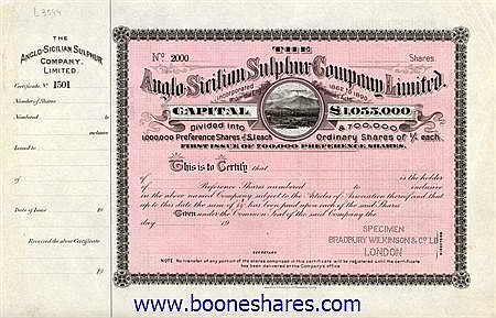 ANGLO-SICILIAN SULPHUR CO. LTD
