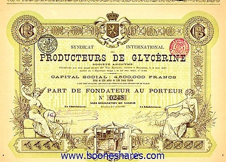 SYNDICAT INTERNATIONAL DES PRODUCTEURS DE GLYCERINE S.A.