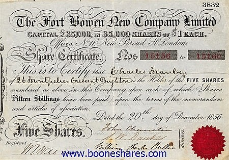 FORT BOWEN NEW CO. LTD