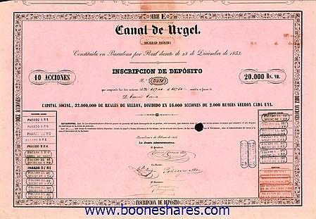 CANAL DE URGEL