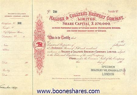 NALDER & COLLYER'S BREWERY CO.LTD