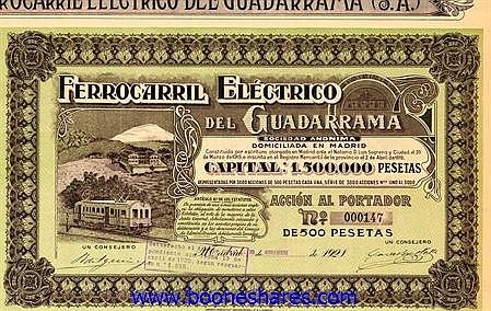 GUADARRAMA, FERROCARRIL ELECTRICO DEL