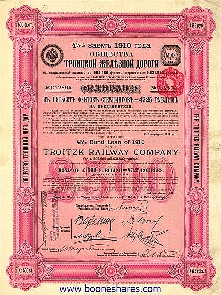 TROITZK RAILWAY CO.