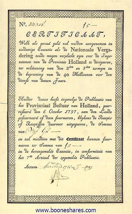 PROVINTIAAL BESTUUR VAN HOLLAND