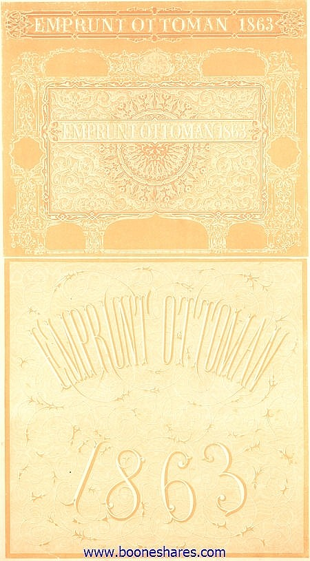 EMPRUNT OTTOMAN 1863