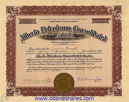 ALBERTA PETROLEUM CONS. LTD.
