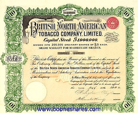 BRITISH NORTH AMERICAN TOBACCO CO. LTD