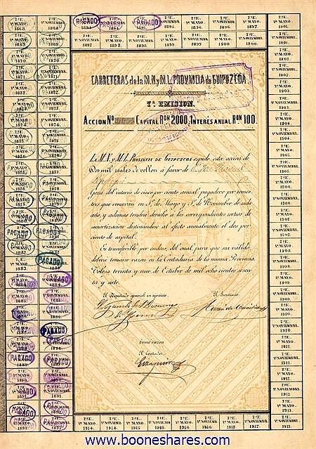 CARRETERAS DE LA M.N. Y M.L. PROVINCIA DE GUIPUZCOA