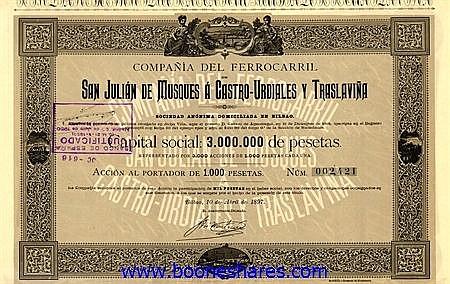SAN JULIAN DE MUSQUES A CASTRO-URDIALES Y TRASLAVINA, CIA DEL FERR. DE