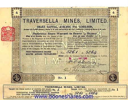 TRAVERSELLA MINES, LTD