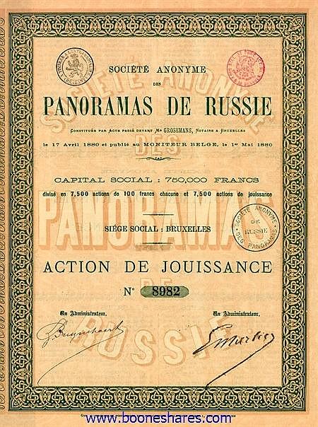 PANORAMAS DE RUSSIE,S.A. DES