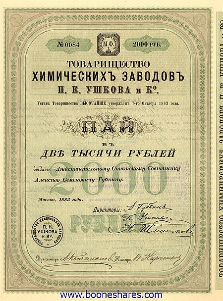 H.K. USHKOV CHEMICAL WORKS
