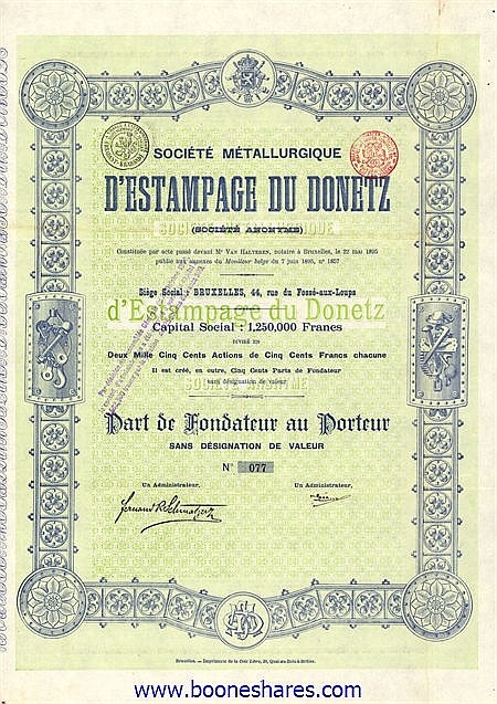 METALLURGIQUE D'ESTAMPAGE DU DONETZ S.A., SOC.