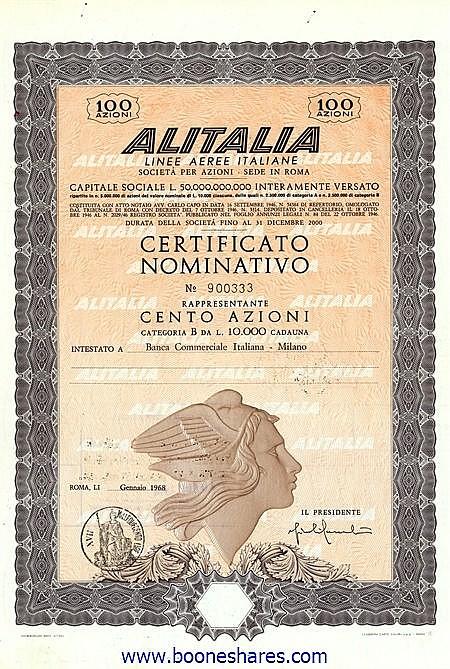 ALITALIA LINEE AEREE ITALIANA