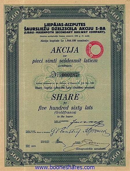 LIBAU-HASENPOTH SECONDARY RAILWAY CO.