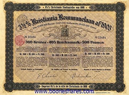 KRISTIANIA KOMMUNELAAN AF 1903