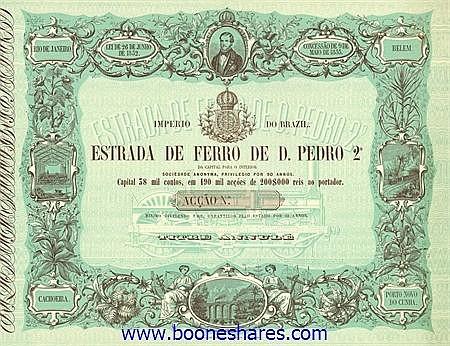 ESTRADA DE FERRO DE D. PEDRO 2ø