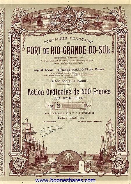 PORT DE RIO-GRANDE-DO-SUL, CIE. FR.