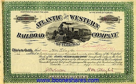 ATLANTIC AND WESTERN RAILROAD CO.