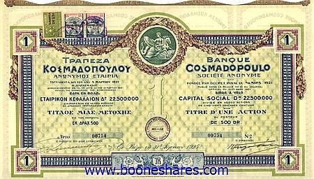 BANQUE COSMADOPOULO S.A.