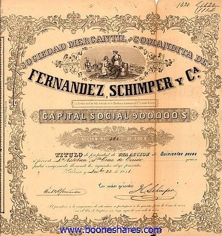 FERNANDEZ, SCHIMPER Y CA., SOC. MERCANTIL EN COMANDITA DE
