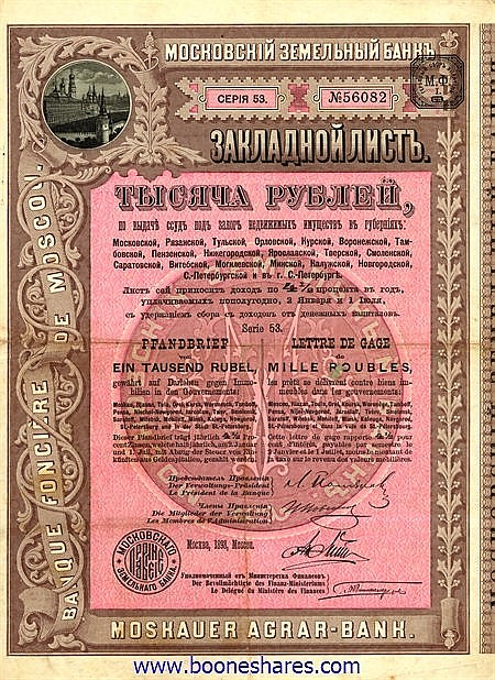 BANQUE FONCIERE DE MOSCOU