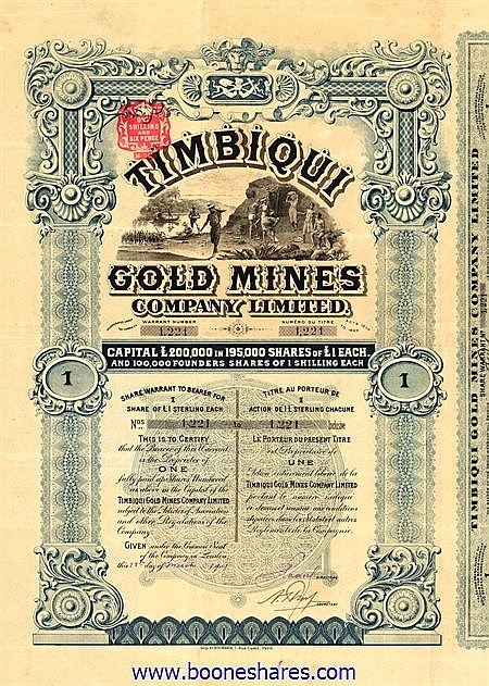 TIMBIQUI GOLD MINES CO. LTD.
