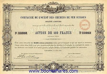 C.D.F. SUISSES, CIE. DE L'OUEST DES